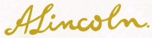 Lincoln-Signature
