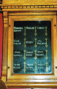 The call system in the butler's pantry