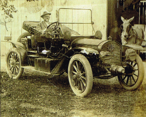 Senator Faulkner in his touring car