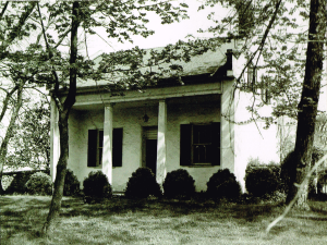 "The ""Law Office,"" used by General Elisha Boyd, his son-in-law, Charles James Faulker Sr. Minister to France, Charles James Faulkner Jr., US Senator, and his son, Charles James Faulkner III, all attorneys. Throughout four generations it remained the same and held an extensive library of old law books. Photo circa 1900"